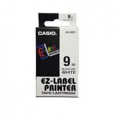 Feliratozógép szalag, 6 mm x 8 m, CASIO, fehér-fekete