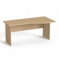 Íróasztal, íves, jobbos,  laplábbal, 160x80 cm, MAYAH