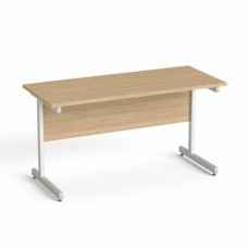 Íróasztal, szürke fémlábbal, 140x70 cm, MAYAH