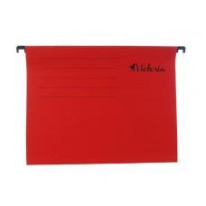 Függőmappa, karton, A4, VICTORIA, piros