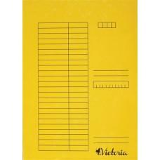 Gyorsfűző, karton, A4, VICTORIA, sárga (5db)