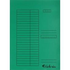 Gyorsfűző, karton, A4, VICTORIA, zöld (5db)