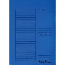 Gyorsfűző, karton, A4, VICTORIA, kék (5db)
