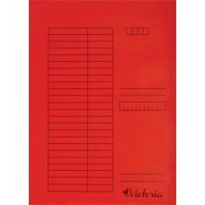 Gyorsfűző, karton, A4, VICTORIA, piros (5db)