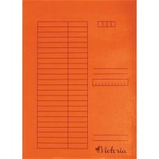 Gyorsfűző, karton, A4, VICTORIA, narancs (5db)