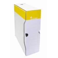 Archiváló doboz, A4, 100 mm, karton, VICTORIA, sárga-fehér