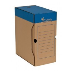 Archiváló doboz, A4, 150 mm, karton, VICTORIA, natúr