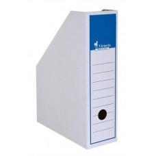 Iratpapucs, karton, 80 mm, VICTORIA, kék-fehér