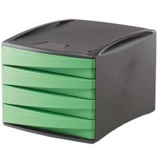 4 fiókos irattároló, műanyag, FELLOWES