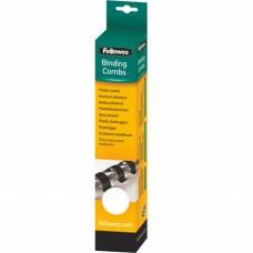Spirál, műanyag, 6 mm, 10-20 lap, FELLOWES, 25 db, fehér