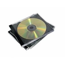 CD-tok, normál, 2 lemez, FELLOWES, fekete