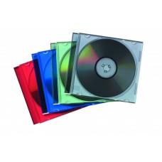 CD-tok, vékony, 1 lemez, FELLOWES, átlátszó