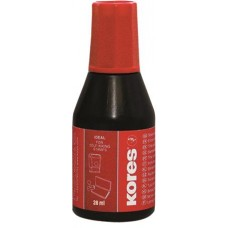 Bélyegzőfesték, 28 ml, KORES, piros