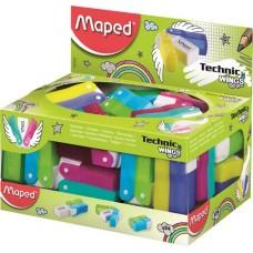 Radír display, műanyagtokos, MAPED