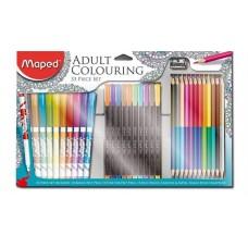 Felnőtt színezőkészlet, MAPED, 33 darabos