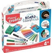 Kreatív készségfejlesztő rajzkészlet, különböző táblákhoz, MAPED CREATIV,
