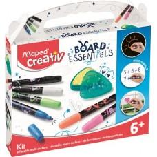 Marker készlet, törölhető, különböző felületekre, MAPED CREATIV,