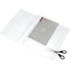 Füzet- és könyvborító, áttetsző, fényes felület, állítható széllel, öntapadó csíkkal 550x310 mm, PP, PANTA PLAST
