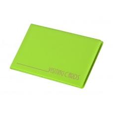 Névjegytartó, 24 db-os, PANTAPLAST, pasztell zöld