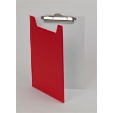 Felírótábla, fedeles, A5, PANTAPLAST, piros-fehér