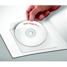 CD tartó zseb, öntapadó, 129x129 mm, PANTA PLAST