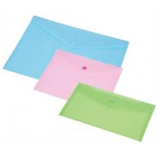 Irattartó tasak, DL, PP, patentos, PANTA PLAST, pasztell rózsaszín