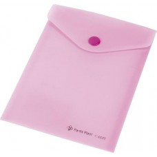 Irattartó tasak, A6, PP, patentos, PANTA PLAST, pasztell rózsaszín