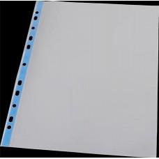 Genotherm, lefűzhető, színes szélű, fényes felületű, A4, 40 mikron, PANTA PLAST, kék