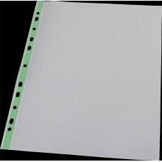 Genotherm, lefűzhető, színes szélű, fényes felületű,  A4, 40 mikron, PANTA PLAST, zöld