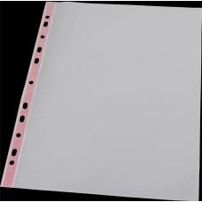 Genotherm, lefűzhető, színes szélű, fényes felületű,  A4, 40 mikron, PANTA PLAST, piros
