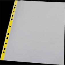 Genotherm, lefűzhető, színes szélű, fényes felületű,  A4, 40 mikron, PANTA PLAST, sárga