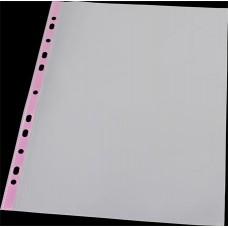 Genotherm, lefűzhető, színes szélű, fényes felületű,  A4, 40 mikron, PANTA PLAST, rózsaszín