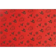 Filc anyag, mintás, A4, piros karácsonyfa