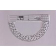 Szögmérő, papír, 180 fokos