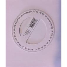 Szögmérő, papír, 360 fokos