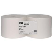 Törlőpapír, tekercses, W1/W2 rendszer, 2 rétegű, általános tisztításhoz, TORK, fehér