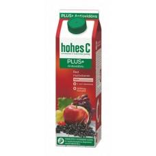 Gyümölcslé, 100%, 1 l, HOHES C, red multivitamin