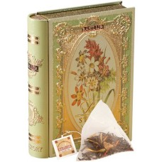 "Zöld tea, 10 g,  fém  könyv dobozban,  ""BASILUR Love Story I."" bergamott aroma, filterben"