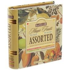 """Fekete tea,filteres, 4x8x1,5 g, fém könyv dobozban, """"BASILUR Magic Fruits Assorted"""""""