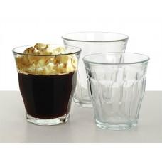 Kávéspohár, üveg, 6db-os szett, 22cl,
