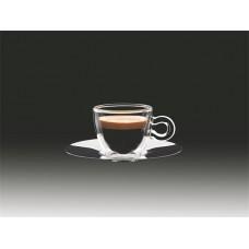 Espresszos csésze rozsdamentes aljjal, duplafalú, 6, 5cl, 2db-os szett,