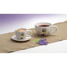 Levendula mintás kávés csésze, 250ml