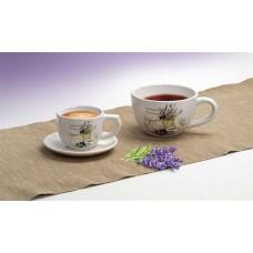 Levendula mintás teás csésze, 400ml