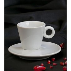 Espresso csésze és alj 70ml, fehér,
