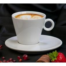Cappucino csésze és alj, 220 ml, fehér