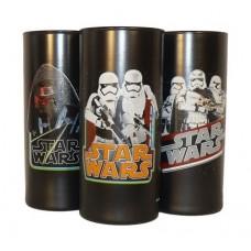Üdítős pohár HB, fekete, Star Wars dekorral, vegyes mintában 270ml -3db-os szett