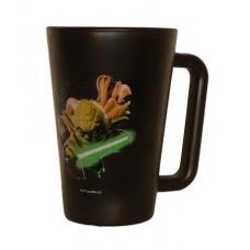 Üvegbögre, fekete, Star Wars Yoda dekorral, 270ml