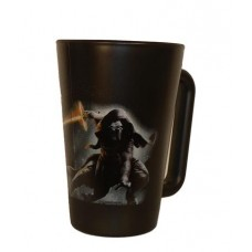 Üvegbögre, fekete, Star Wars Kylo Ren dekorral, 270ml