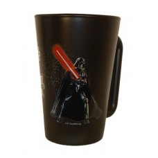 Üvegbögre, fekete, Star Wars Darth Vader dekorral, 270ml