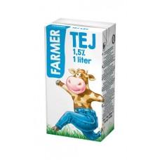 Tartós tej, dobozos, 1,5%, 1 l, FARMER